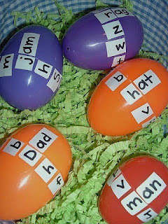 Plastic Easter Eggs in the classroom
