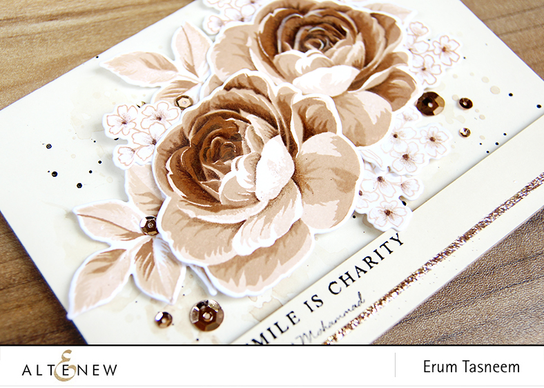 Altenew Build-A-Flower: Rose. Card by Erum Tasneem | @pr0digy0