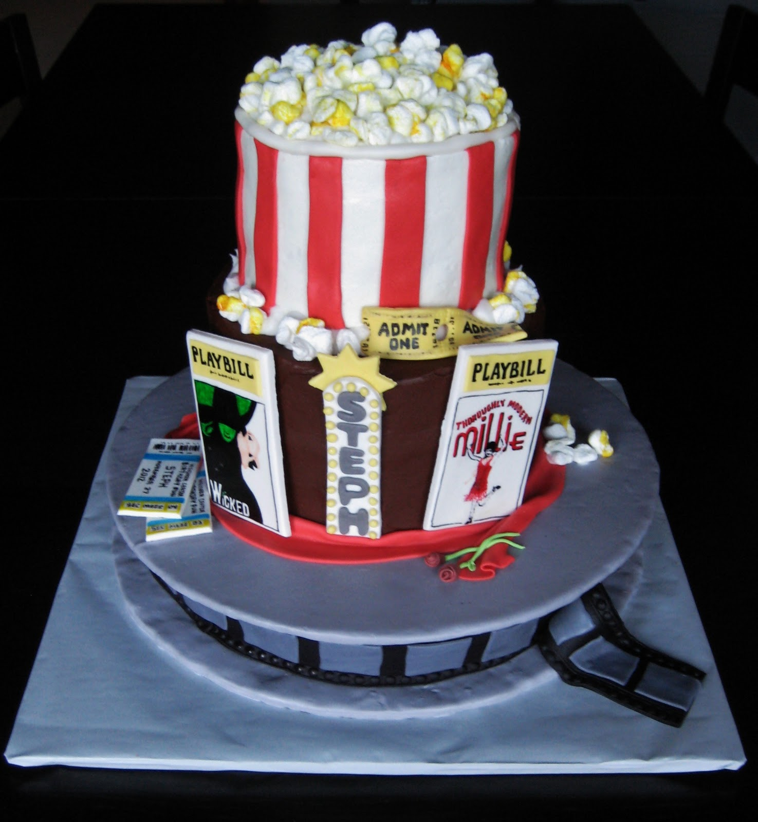 Custom Cakes By Julie Theater Cake Cinema And Broadway