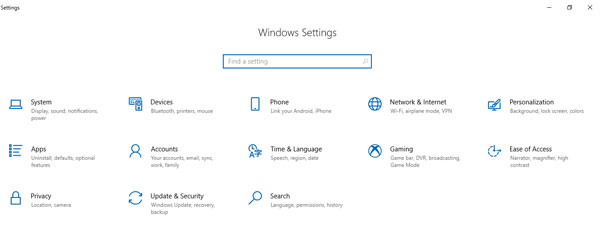windows setting di windows 10