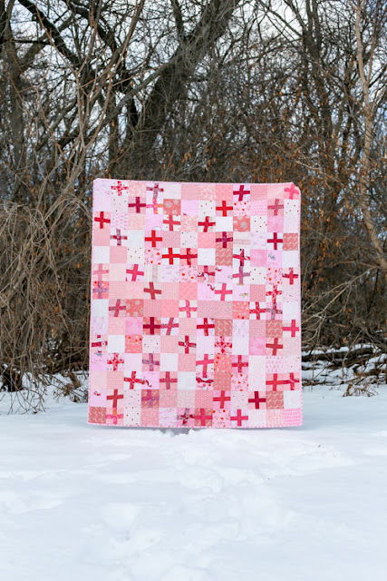 Quilt Inspiration: Free Pattern Day: Plus and Cross quilts