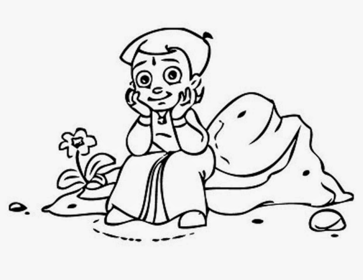 Colours Drawing Wallpaper Chota Bheem For Kids Colour