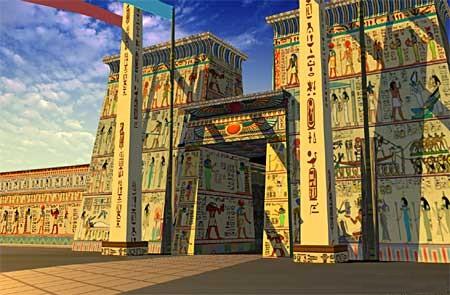 [WIP] Fabrication d'un second bâtiment égyptien du nouvel empire Temple-E0