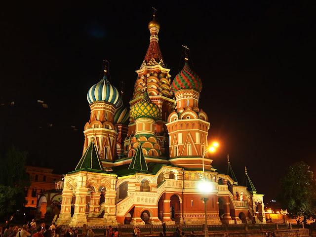 Na Placu Czerwonym - Sobór Wasyla Błogosławionego, chyba najczęściej fotografowana cerkiew w całej Rosji