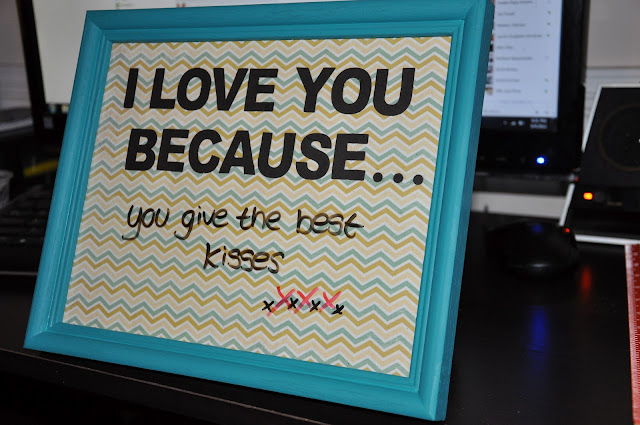 Fayes Brain Diy Quot I Love You Because Quot Frame