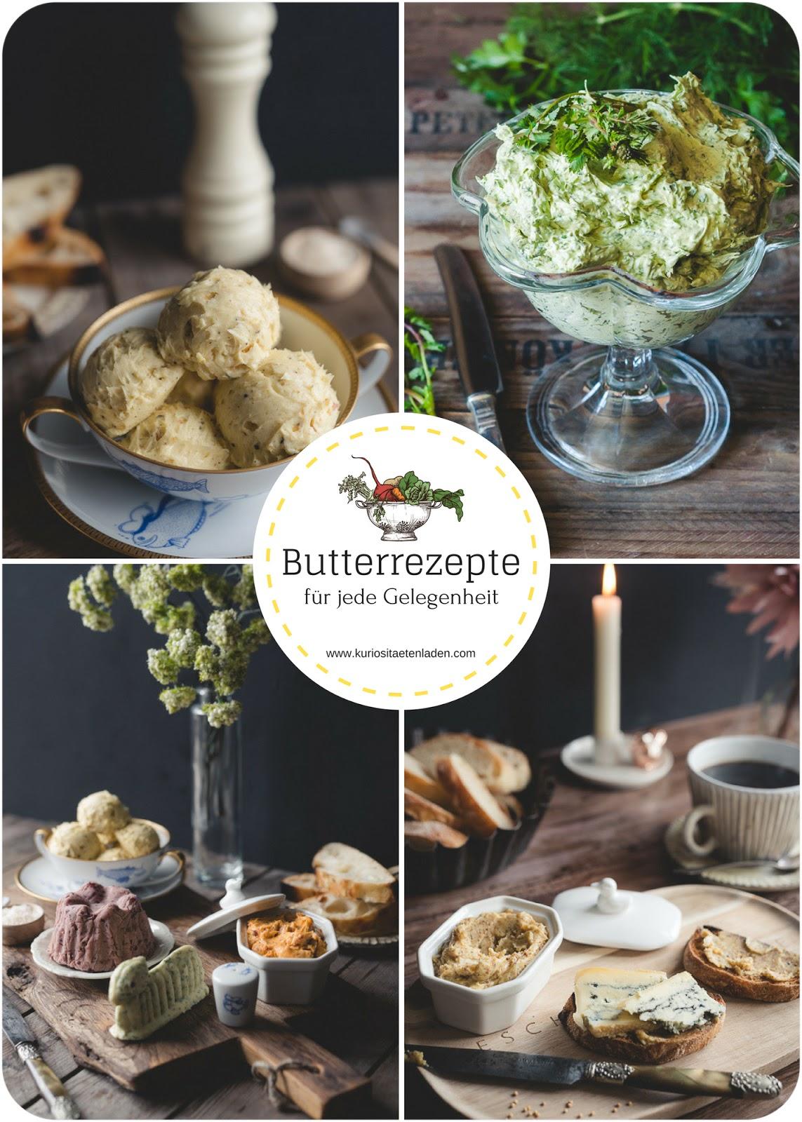 Kräuter-, Gewürz- und süße Butterrezepte