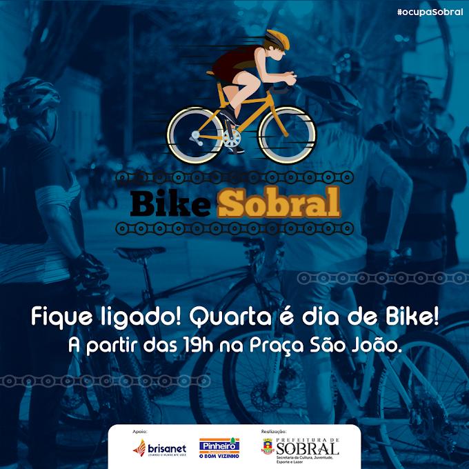 Secretaria da Cultura, Juventude, Esporte e Lazer realiza mais uma edição do 'Bike Sobral'