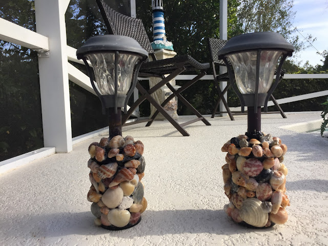 Seashell Solar Lights Home Project DIY Seashell Art