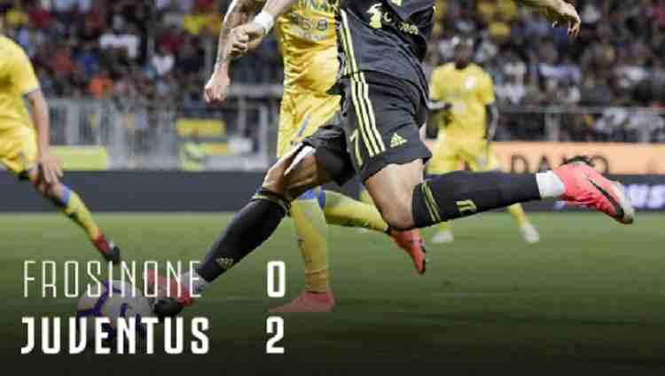 Hasil Frosinone vs Juventus Skor Akhir 0-2