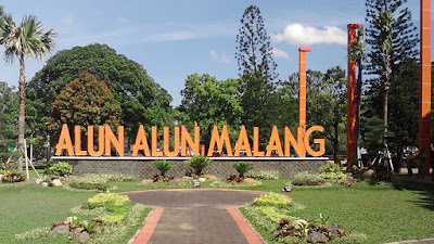 alun alun Kota Malang sekarang