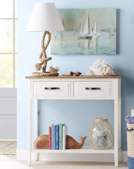 Coastal Display Ideas and Vignettes for Console Tables