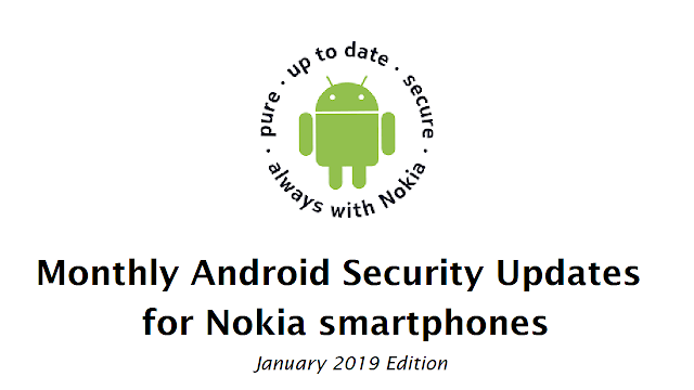 Nokia Smartphones January 2019 Android Security update