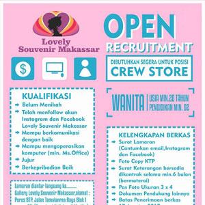 Lowongan Kerja Lovely Souvenir Makassar
