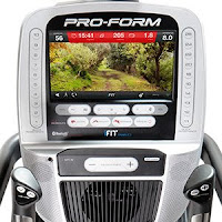 "ProForm Cardio HIIT Trainer Pro 10"" full-color HD Smart touch-screen display, image"