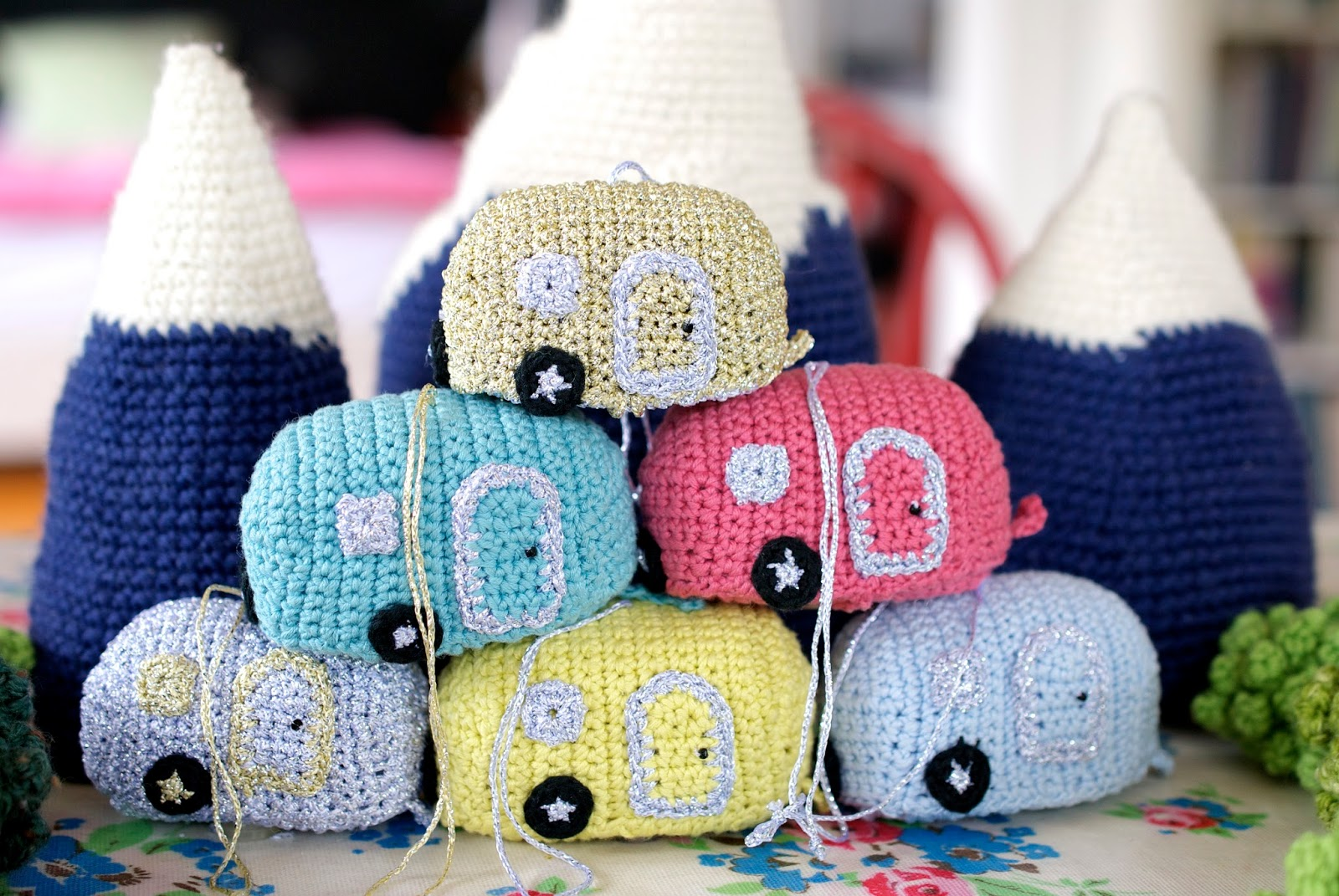 Greedy For Colour Mini Crochet Advent Caravans