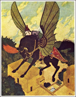 Flying horse by Edmund Dulac