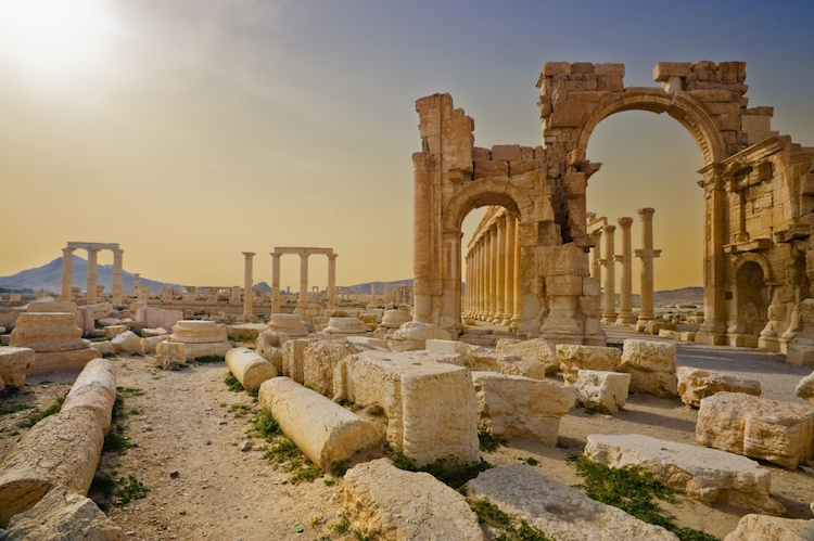 There are still remnants of the ancient world