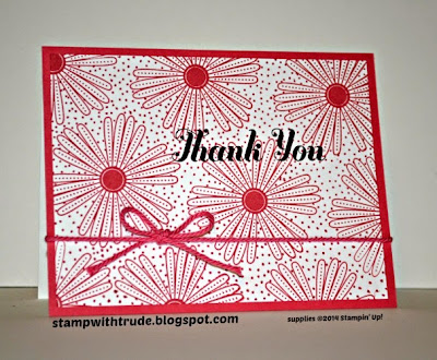 Many Thanks stamp set, Thank You card