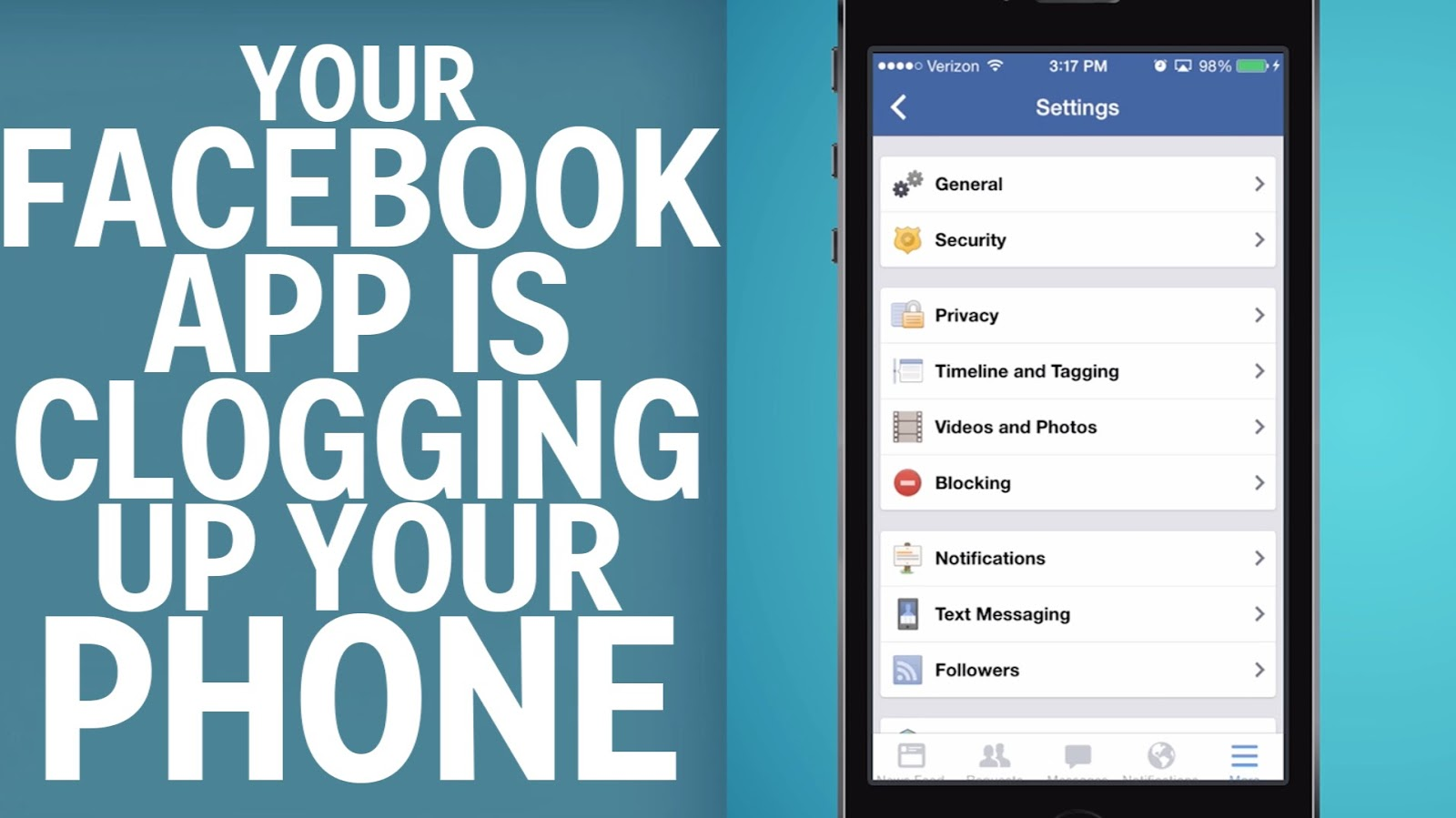 Your Facebook App Is Clogging Up Your Phone [video]