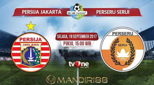 Persija Jakarta menjamu Perseru Serui pada laga pekan ke Berita Terhangat Prediksi Bola : Persija Jakarta Vs Perseru Serui , Selasa 19 September 2017 Pukul 15.00 WIB @ TVONE