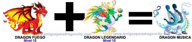 como sacar el dragon musica en dragon city combinacion 4