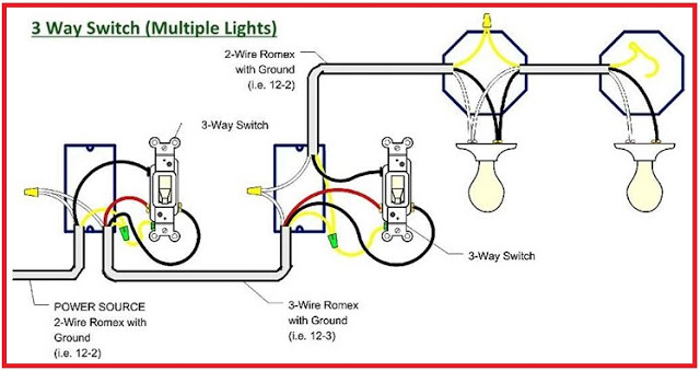 3 Way Switch - Multiple Lights