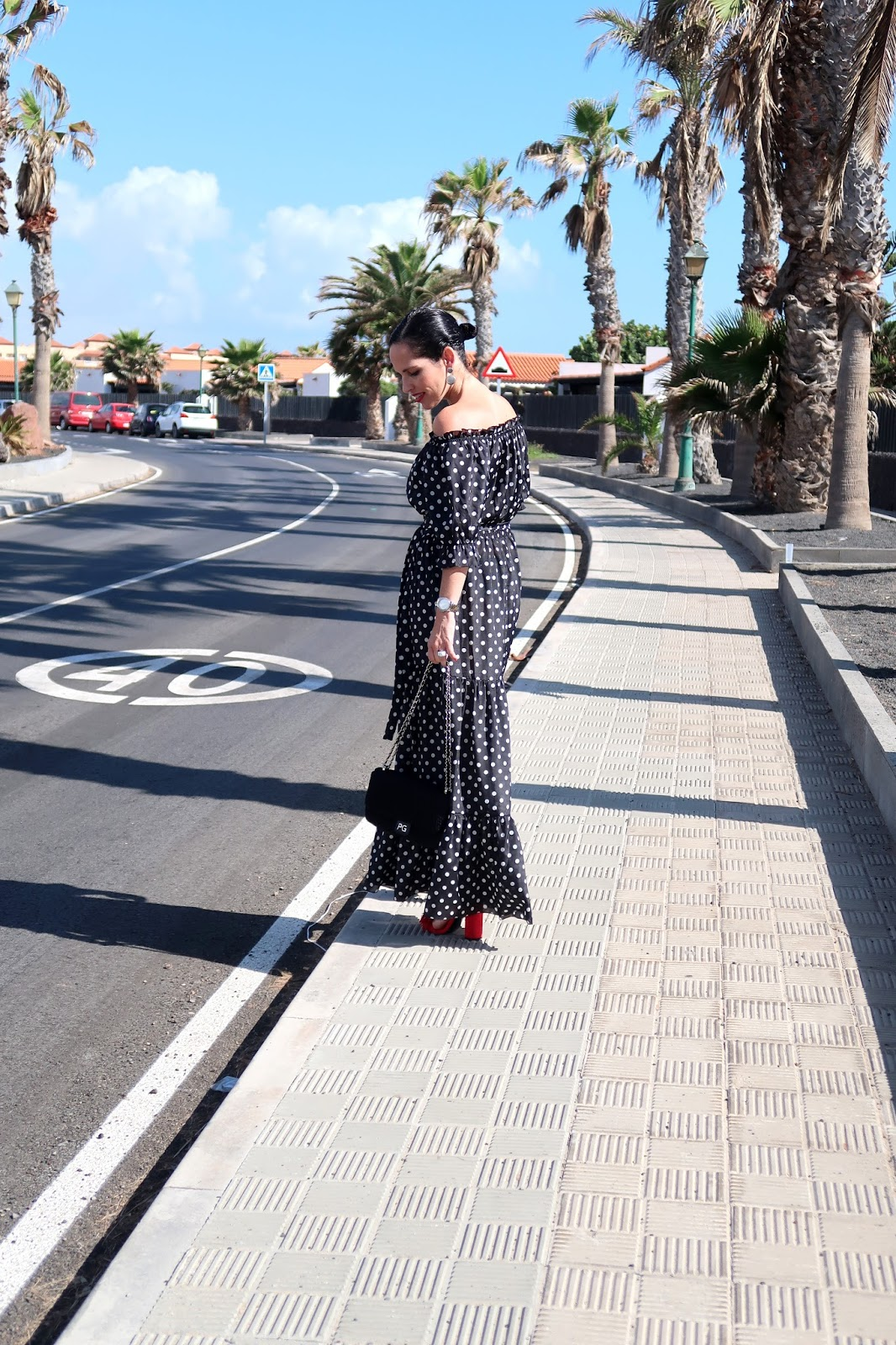 polka-dots-long-dress-outfit-gema-betancor