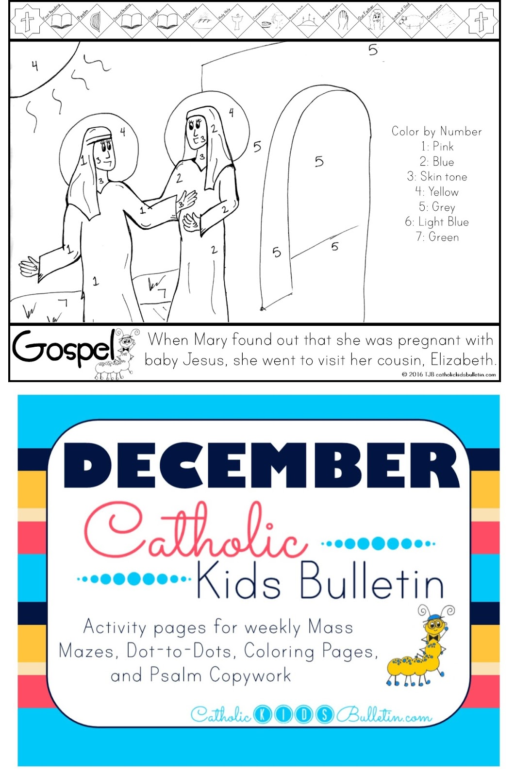 2 December Catholic Kids Bulletin Immaculate Conception Visitation with Saint Elizabeth