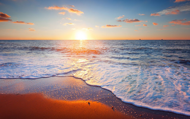 Papel de Parede Pôr do sol sobre a Praia
