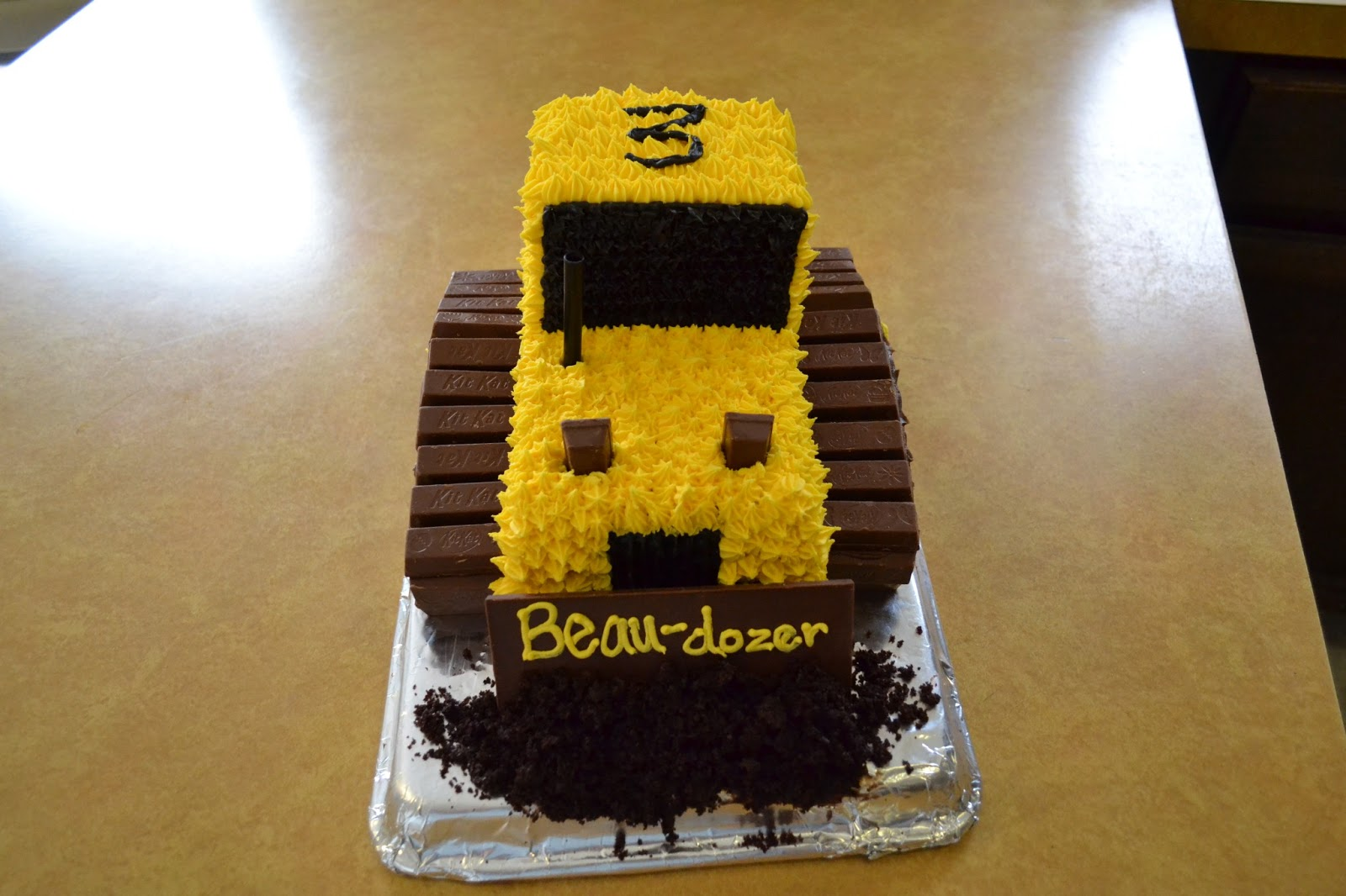 School Of Natalie Bulldozer Cake With Kit Kats
