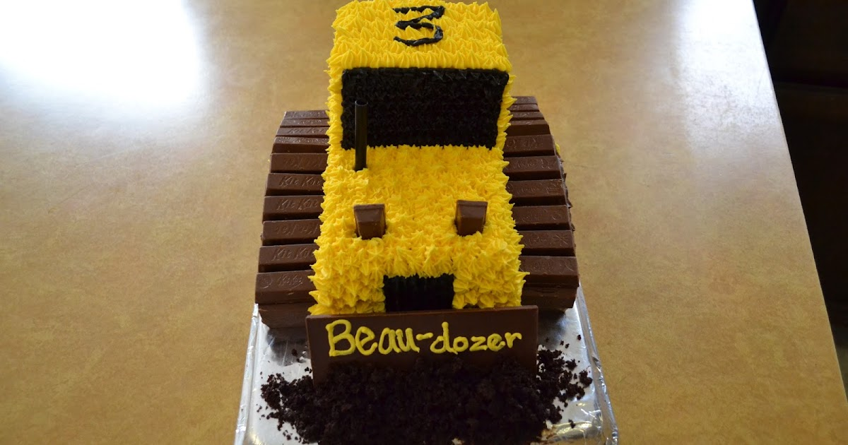 School Of Natalie Bulldozer Cake With Kit Kats