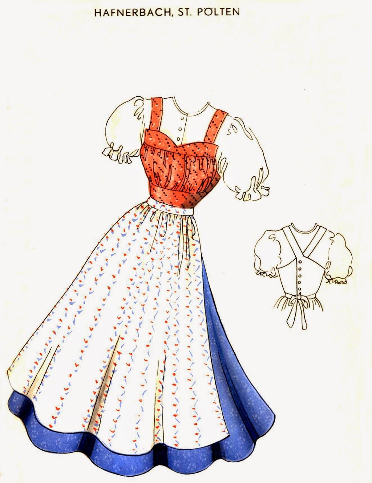 folkcostume embroidery dirndls of lower austria nieder sterreich Austrian Dirndl a
