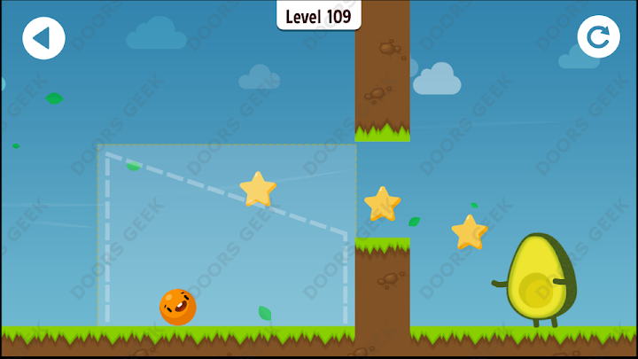 Where's My Avocado? Level 109 Solution, Cheats, Walkthrough, 3 Stars for Android, iPhone, iPad and iPod