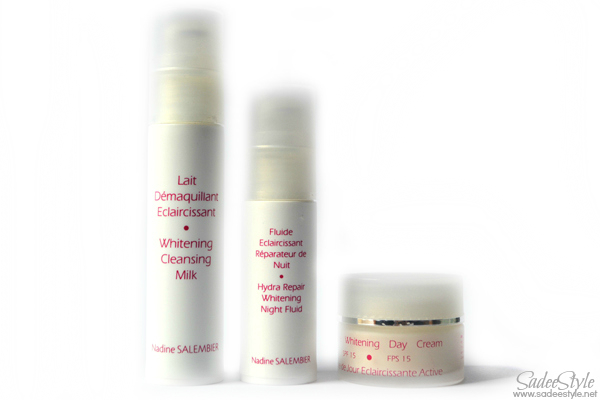 Whitening products by Nadine Salembier