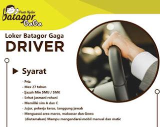 Lowongan Kerja Driver di Batagor Gaga Makassar
