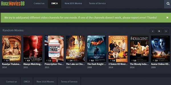 HugeMoviesDB: 40 Sites like OnlineMoviesCinema| Best alternatives to OnlineMoviesCinema