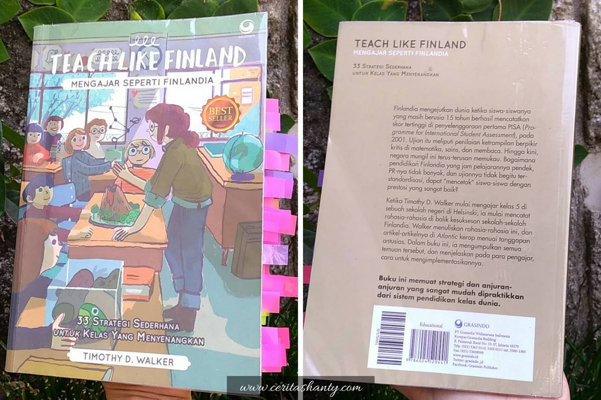 Teach Like Finland oleh Timothy D. Walker cover dan back cover.