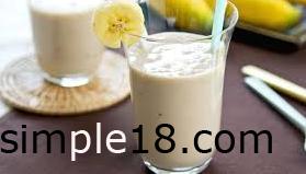 مشروب الموز باللبن