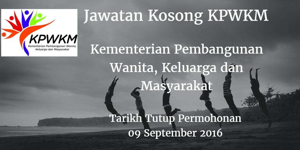 Jawatan Kosong KPWKM 09 September 2016
