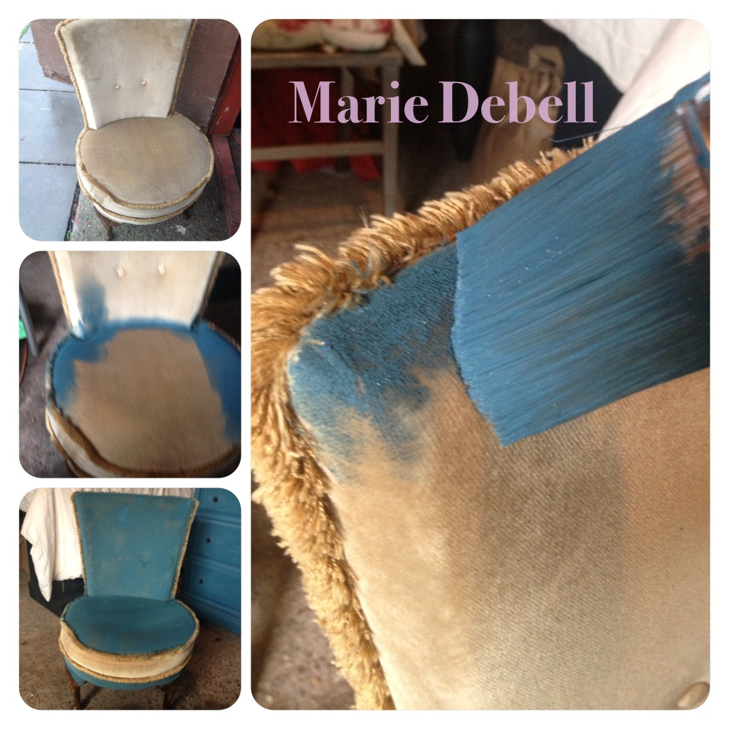 Dining Room Chair Cover Pattern Marie Debell Fabric Magic With Annie Sloan Chalk Paint