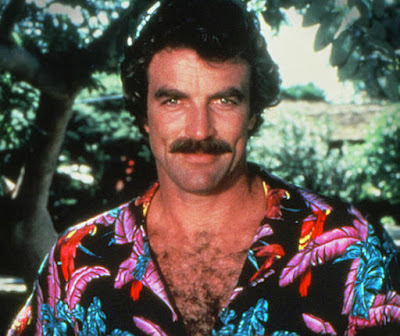 Tom Selleck in all his Hawaiian-shirted, hairy-chested glory