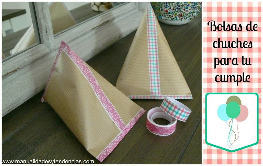 Bolsas de chuches de papel para cumpleaños