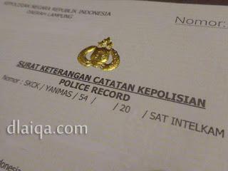 Surat Keterangan Catatan Kepolisian (SKCK)