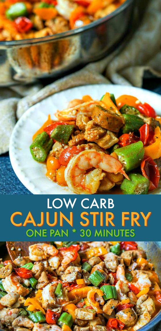 Keto/Low Carb Cajun Stir Fry Dinner