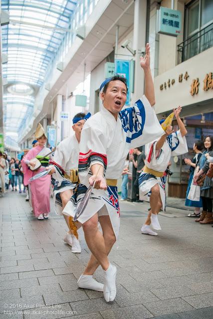天翔連、高円寺パル商店街での流し踊り、男踊りの写真 6