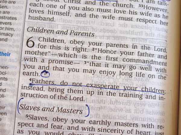 Children Obey Your Parents in the Lord...
