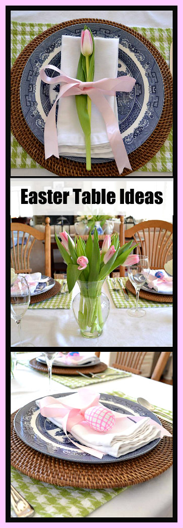 Easter Table Ideas with Tulips and Easter Eggs