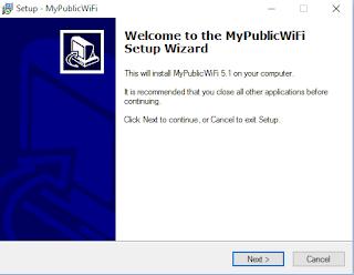 Proses instalasi Mypublic Wifi