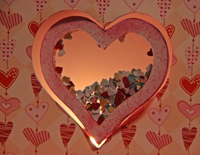 kartka witraż, kartka miłosna, shaker box, walentynka
