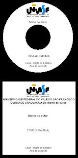 Etiqueta/capa de CD nas normas da UNIVASF editável
